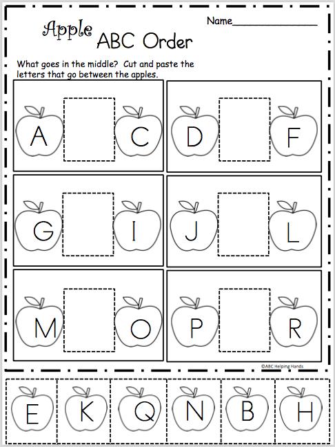 Apple Alphabetic Order Worksheet