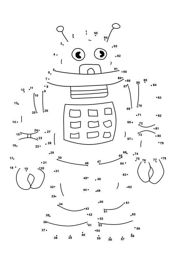 Dot To Dots Worksheets For Kindergarten