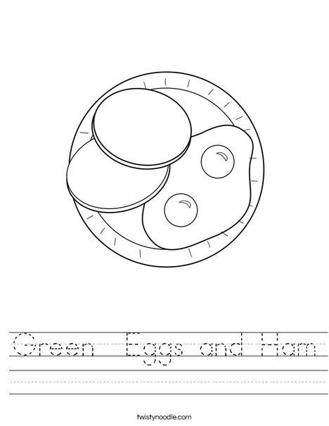 Eggs And Ham Worksheet Twisty Noodle Worksheets X Q