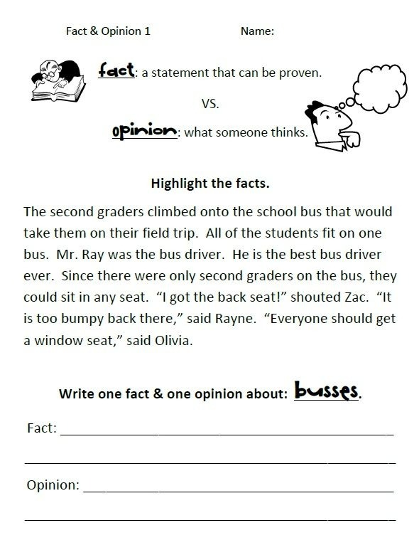 Fact Vs Opinion Guided Worksheets Use Whole Group To Introduce