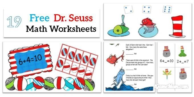 Free Dr Seuss Math Printable Worksheets For Kids Worksheet