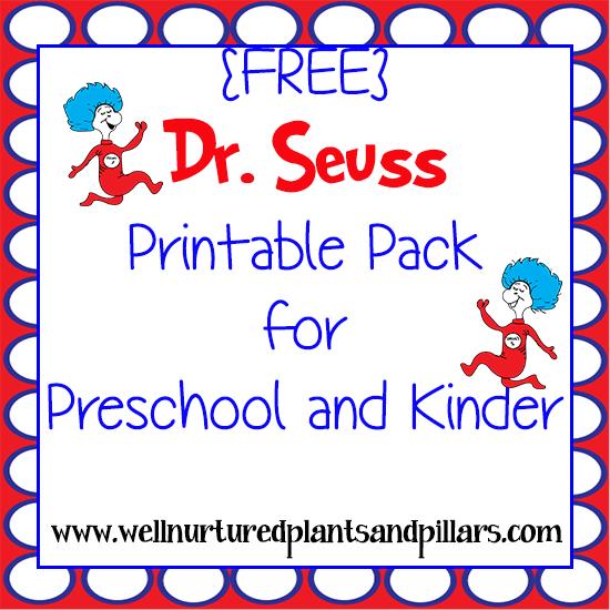 Free Dr Seuss Printables Pack