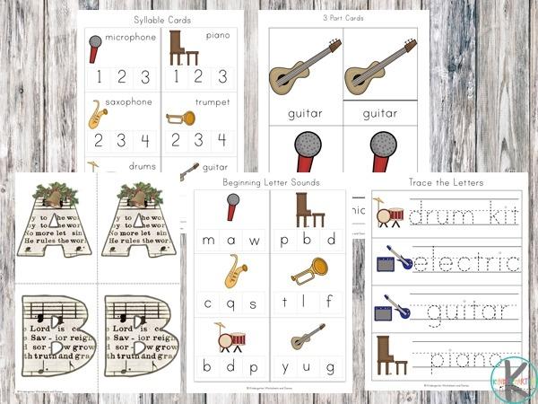 Free Musical Instruments Worksheets Printable