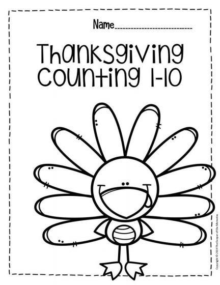 Free Printable Thanksgiving Numbers Preschool Worksheets For