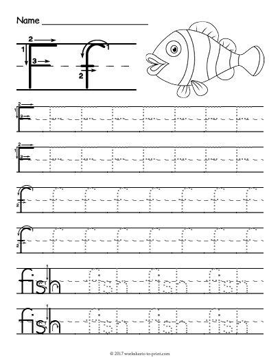 Free Printable Tracing Letter F Worksheet