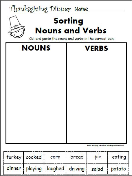 Free St Grade Worksheets For November Language Arts