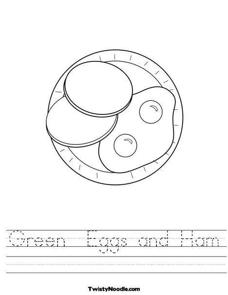 Green Eggs And Ham Worksheet