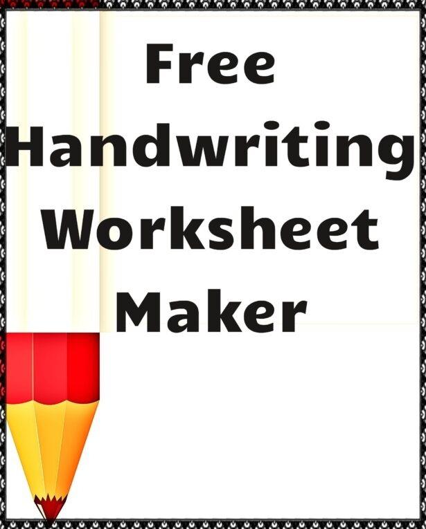 Handwriting Worksheet Maker Create Worksheets Cursive Free Name