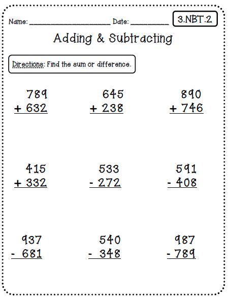 Math Homework For Rd Grade
