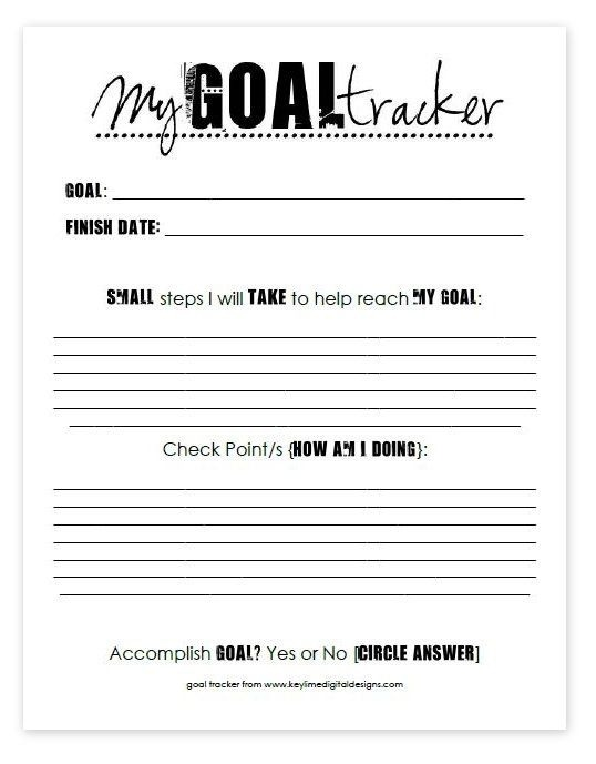 My Thoughts On Goals  Freebie