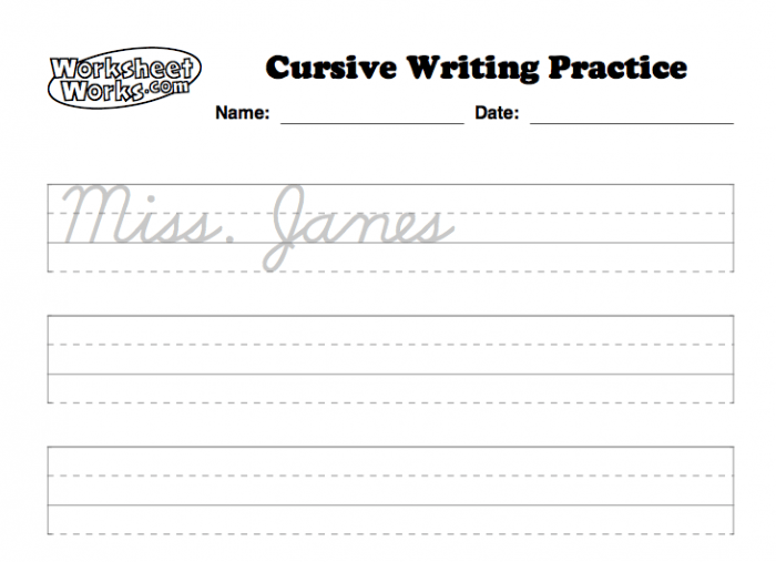 Personalized Cursive Worksheets So Each Student Can Practice