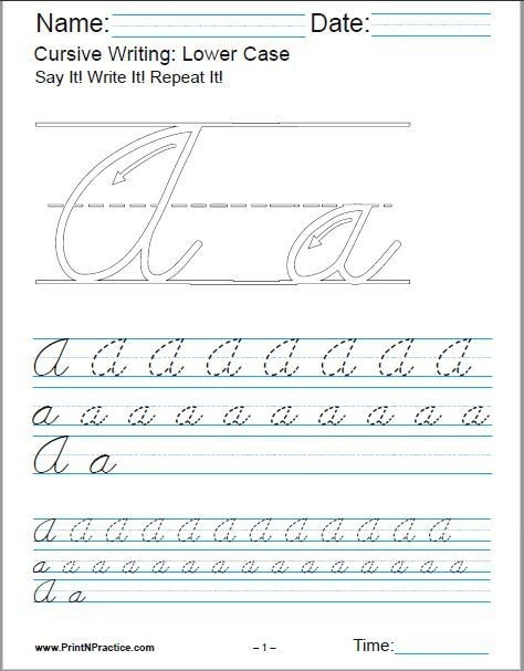 Printable Cursive Writing Worksheets Pdf For Learning The Alphabet