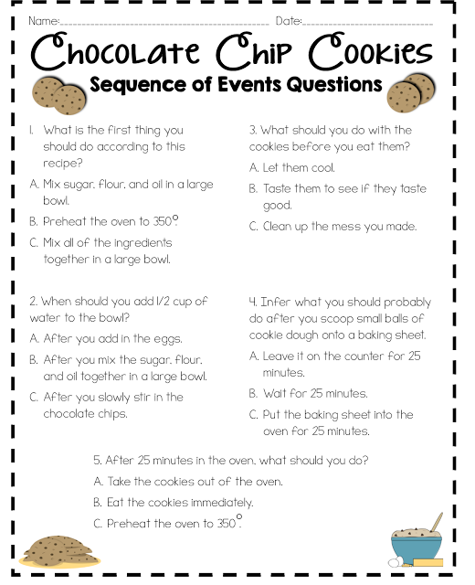 Read Like A Rock Star  Sequence Of Events Activity