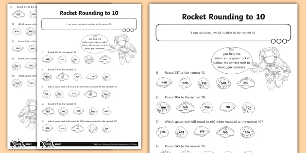 Rocket Rounding To  Worksheet Teacher Made