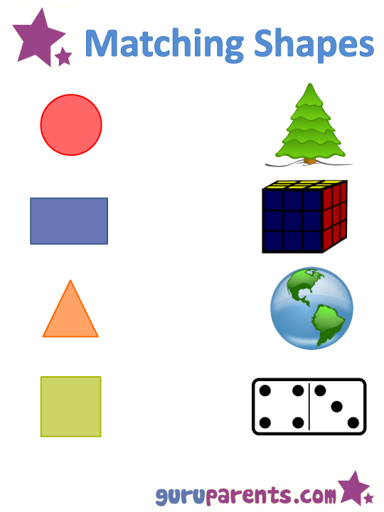 Shapes Worksheets And Flashcards For Kids