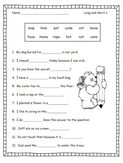 Silent Short Worksheets First Grade Reading Free Phonics Nd Learn
