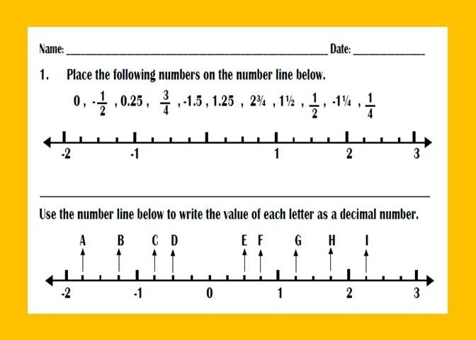 This Is A Worksheets For Ordering Positive And Negative Decimal