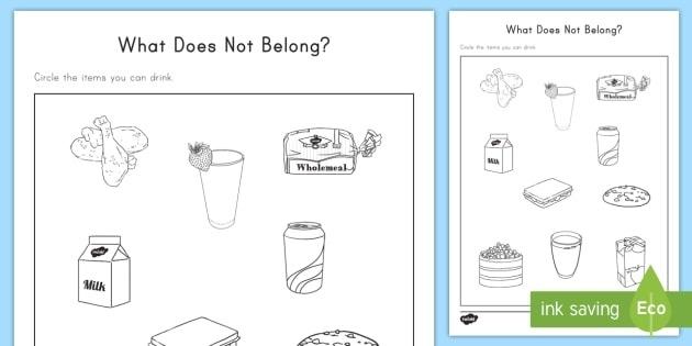 What Does Not Belong Worksheet  Worksheet Teacher Made
