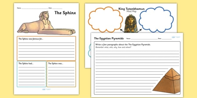 Ancient Egypt Mind Map And Activity Worksheets