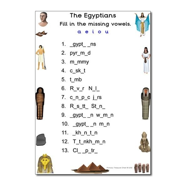 Ancient Egypt Worksheets For Middle School