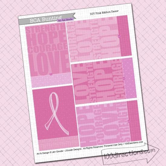 Bca And Pink Ribbon Printables