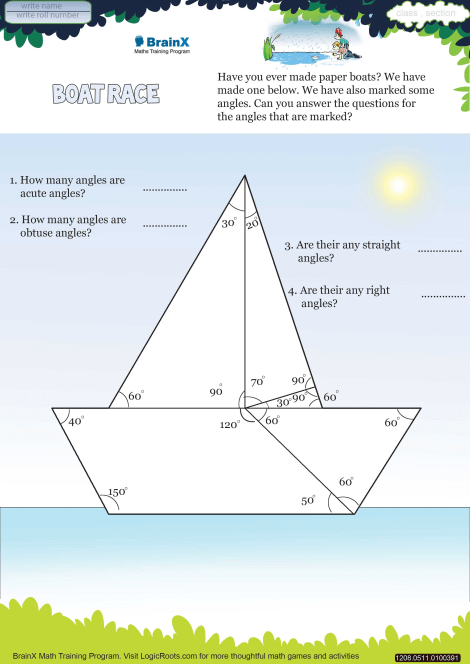 Boat Race Math Worksheet For Grade