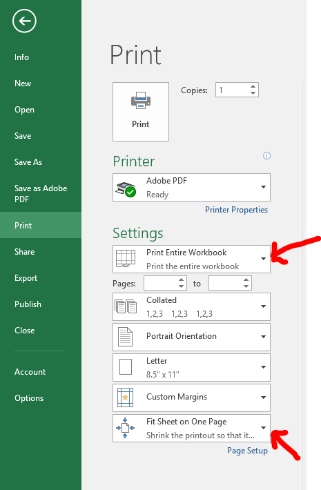 Create One Pdf From Multiple Excel Tabs Within A S