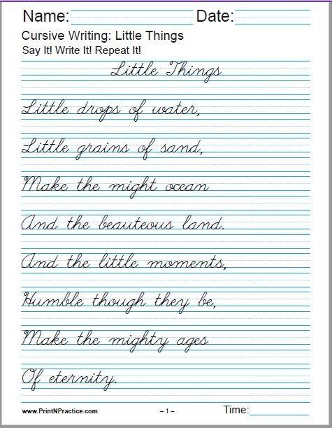 Cursive Writing Worksheets Alphabet Letters Sentences Advanced
