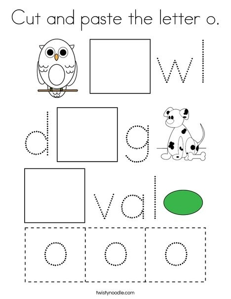 Cut And Paste The Letter O Coloring Page