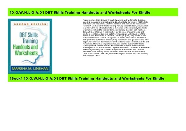Download Dbt Skills Training Handouts And Worksheets For Kin