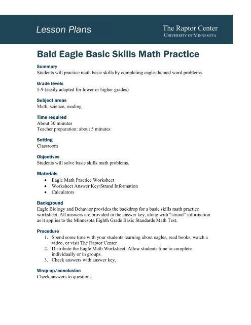 Eagle Basic Skills Math Practice