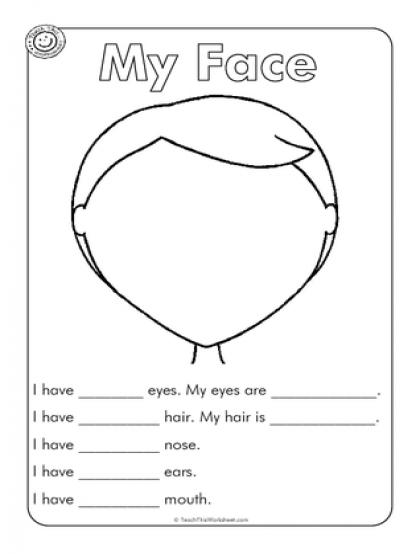 Face Parts Esl Worksheet