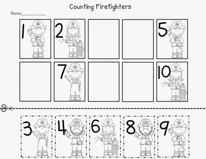 Fire Safety Freebies Math Preschool Worksheets For Graphing