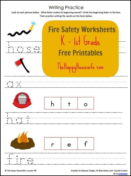 Fire Safety Worksheets For Elementary Worksheets Math Sheets For