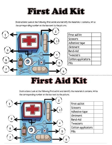 First Aid Activity Worksheets