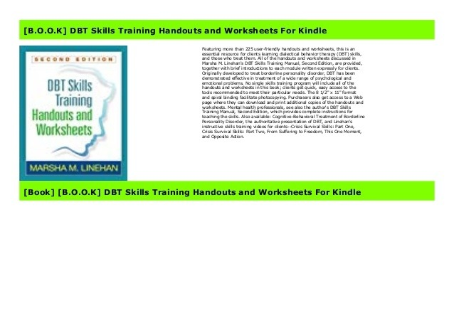 Free Dbt Skills Training Handouts And Worksheets For Kindle