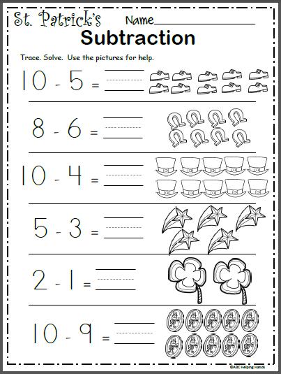 Free March Math Worksheet