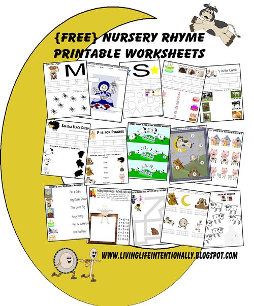 Free Nursery Rhymes Worksheets   Activities