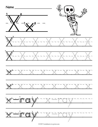 Free Printable Tracing Letter X Worksheet
