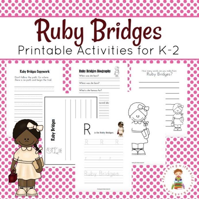 Free Ruby Bridges Printable Pack Thrifty Homeschoolers Worksheets
