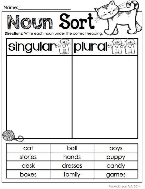 Get Into Grammar Singular Or Plural Nouns Worksheets