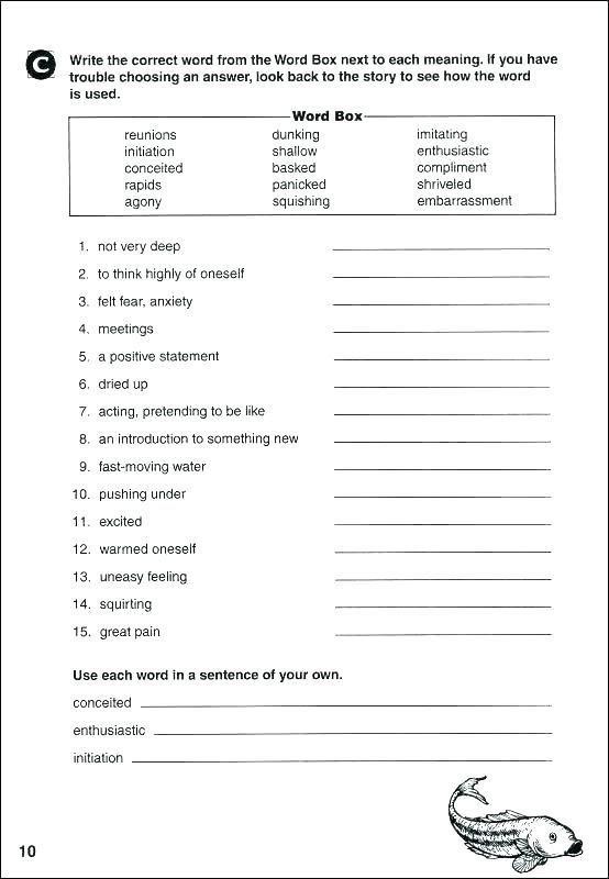 Grade  Reading Comprehension Worksheets Pdf
