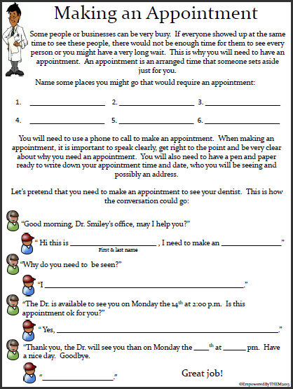 Life Skills Worksheets Kids Mreichertee Printable For Adults And