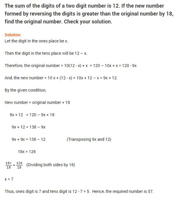 Linear Equations In One Variable Class  Worksheets In