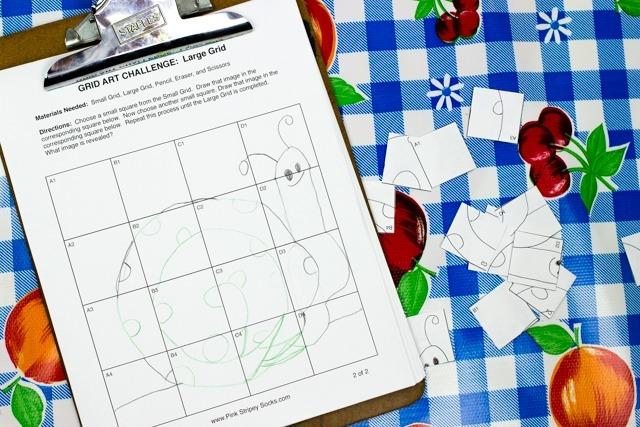 Mystery Grid Art Challenge