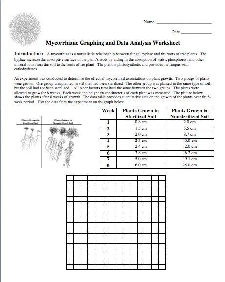 Science Stuff Blog Free Graphing Activity On The Fungi