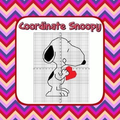 Snoopy Valentines Day Math
