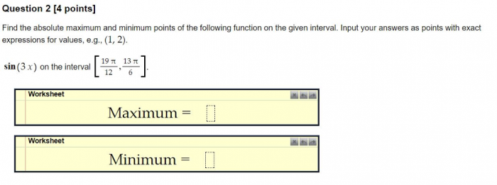 Solved Question   Points Find The Absolute Maximum An