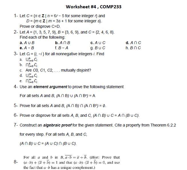 Solved Worksheet   Comp
