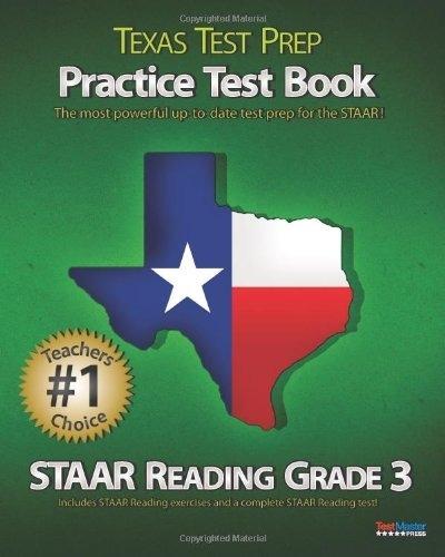 Texas Test Prep Practice Test Book Staar Reading Grade  Aligned